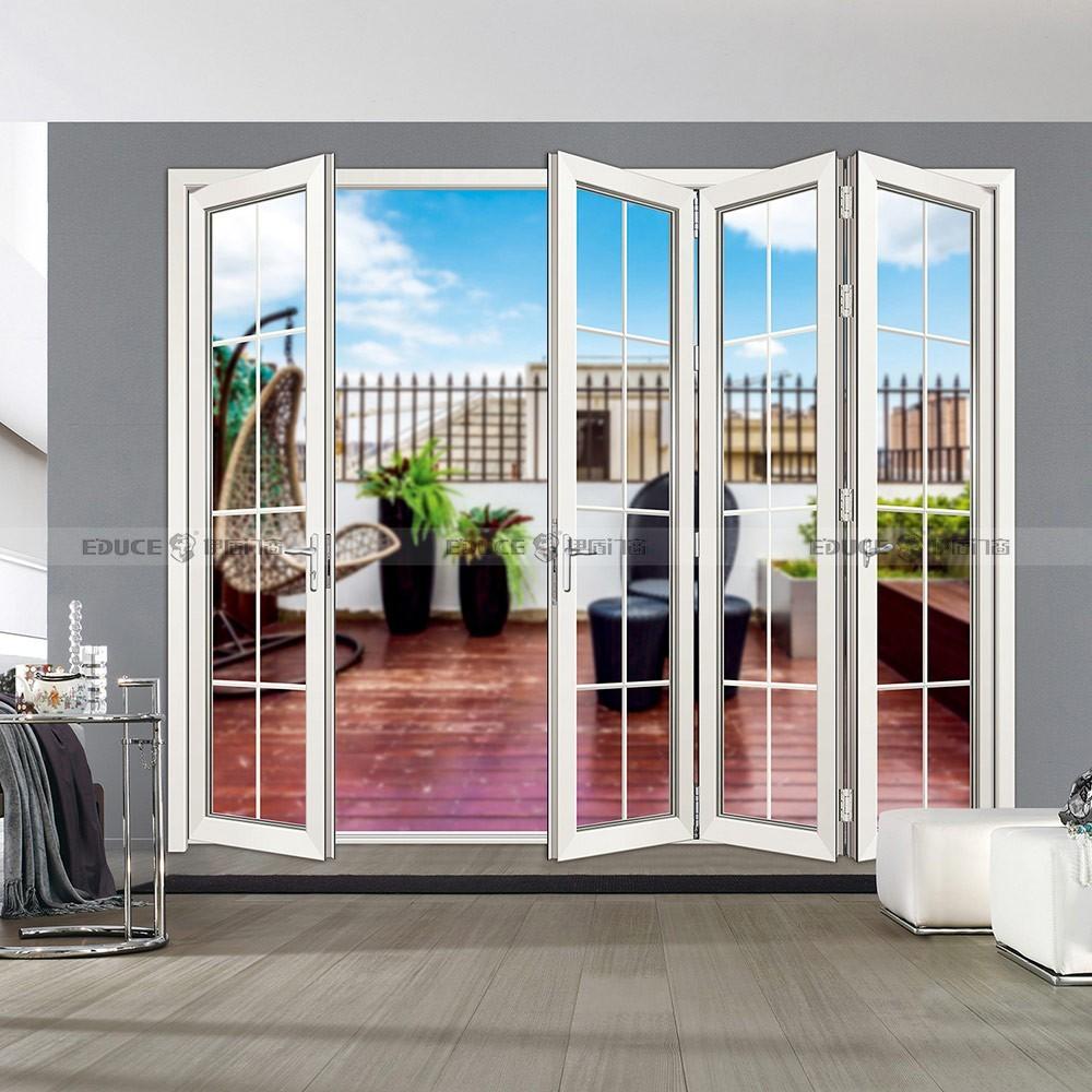 办公室隔断折叠门-伊盾门窗-铝合金折叠门