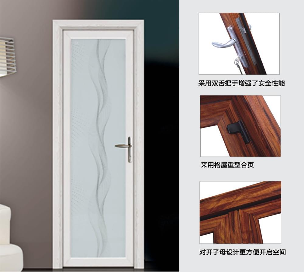 a高气密洗手间平开门产品描述